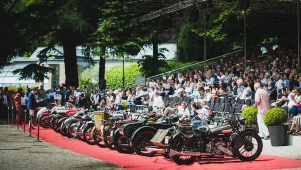 Motocicletas en el Concorso D Eleganza